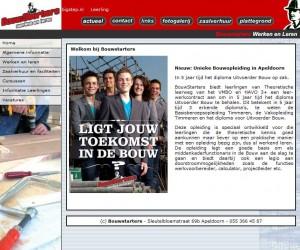 Screencap website Bouwstarters 2011