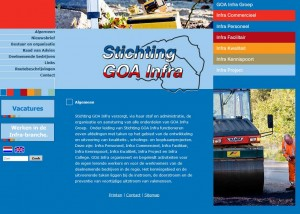 Screencap website Goa-infra 2011