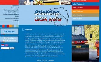 Screencap website Goa-infra 2011