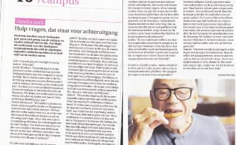 artikel in hogeschookrant Win - Mandy van Dijk